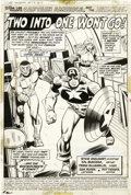 Original Comic Art:Splash Pages, Sal Buscema and Frank McLaughlin - Captain America #156, Splashpage 1 Original Art (Marvel, 1972). Captain America and the ...