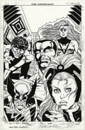 Original Comic Art:Covers, Dave Cockrum - X-Men #100 Variant Cover Original Art (Marvel,2000). The original cast of the Uncanny X-Men, Nightcrawler, C...