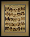 Baseball Collectibles:Publications, 1926 World Champion St. Louis Cardinals Special Newspaper Insert.Glorious display piece here places the portraits of the m...