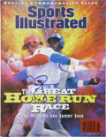 """Autographs:Others, Mark McGwire Signed """"Sports Illustrated"""" Magazine. Commemorativeissue of Sports Illustrated that hit the newsstands ..."""