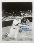 Autographs:Baseballs, Mickey Mantle Signed Photograph. An early action shot of theCommerce Comet here stands out as a truly attractive display p...