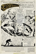 Original Comic Art:Splash Pages, Dick Dillin and Joe Giella - World's Finest Comics #214, SplashPage 1 Original Art (Marvel, 1972). Penciler Dick Dillin and...