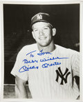 Autographs:Photos, Mickey Mantle Signed Photograph. The Mick has provided a gloriousexample of his coveted signature to the surface of the at...