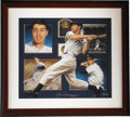Baseball Collectibles:Others, Joe DiMaggio Signed Lithograph. Photographic realism is the favoredstyle of artist Danny Day, who masterfully captures the ...