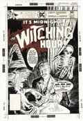 "Original Comic Art:Covers, Luis Dominguez - The Witching Hour #65 Cover Original Art (DC,1976). Horror fans -- prepare to be spooked by the riveting ""..."