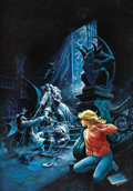 Original Comic Art:Covers, Luis Dominguez - Mystery-Horror Cover Painting Original Art(undated). A beautiful, buxom blonde witnesses a ghostly swordfi...
