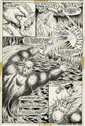 Original Comic Art:Panel Pages, Bill Everett - Sub-Mariner #55, page 12 Original Art (Marvel,1972). Prince Namor, Scourge of the Sea, fights for survival a...