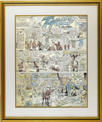 Hal Forrest - Tailspin Tommy Hand Colored Sunday Comic Strip Original Art, dated 6-21 (Bell Syndicate, circa 1931). Tomm...