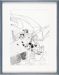 Original Comic Art:Covers, Daan Jippes - Mickey Mouse #227 Cover Original Art (Gladstone,1987). Admired by his fans for his lively emulation of Carl B...