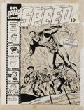 Original Comic Art:Covers, Jack Kirby - Speed Comics #23 Cover Original Art (Harvey, 1942).This spectacular World War II era Jack Kirby cover was Harv...