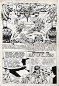 "Original Comic Art:Complete Story, Jack Kirby and Joe Simon - Fighting American #2 Complete 7-pageStory ""Assignment: Investigate the City of Ghouls"" Original Ar..."