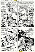 Original Comic Art:Panel Pages, Jack Kirby - New Gods #9, page 18 Original Art (DC, 1972). The Bugand Prime One take center stage in this action-packed pag...