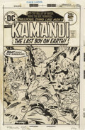 Original Comic Art:Covers, Jack Kirby and D. Bruce Berry - Kamandi #28 Cover Original Art (DC,1975). Into the Valley of Death rode the six hundred - b...