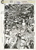 Original Comic Art:Covers, Greg LaRocque and Roy Richardson - Flash #70 Cover Original Art(DC, 1992). Surrounded by an army of apes intent on world do...