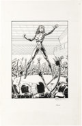 "Original Comic Art:Sketches, Bob Layton - ""Tekla"" Magnus Robot Fighter Trading Card Illustration Original Art (Valiant Comics, 1991). One cannot look bac..."