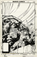 Original Comic Art:Covers, Jim Lee and Scott Williams - Conan the Barbarian #220 CoverOriginal Art (Marvel, 1989). The Lion of Cimmeria faces the Bear...
