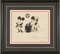 Original Comic Art:Sketches, Dick Lundy - Mickey and Minnie Mouse Illustration Original Art (1930). This vintage illustration is by veteran Disney animat...