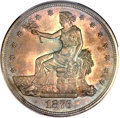 Trade Dollars, 1876 T$1 MS65 PCGS. CAC....