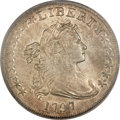 Early Dollars, 1797 $1 10x6 Stars, Large Letters AU55 PCGS Secure. B-3, BB-71,R.2....