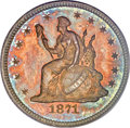 Patterns, 1871 25C Quarter Dollar, Judd-1099, Pollock-1235, High R.7, PR66PCGS. CAC....