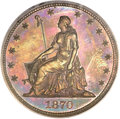 Patterns, 1870 50C Standard Silver Half Dollar, Judd-929, Pollock-1034, R.7,PR65 Red and Brown PCGS. CAC....