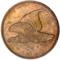 Patterns, (1856) P1C Flying Eagle Cent, Judd-179, Pollock-207, Low R.7, PR65 Brown PCGS. CAC. Snow-1858 PT1b. ...