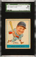 Baseball Cards:Singles (1930-1939), 1938 Goudey Jimmy Foxx #249 SGC 88 NM/MT 8 - Pop Three. ...
