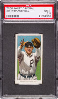 Baseball Cards:Singles (Pre-1930), 1909-11 T206 Sweet Caporal Kitty Bransfield PSA NM+ 7.5 - Highest Sweet Cap Known! ...