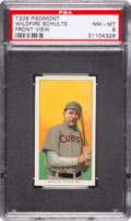 Baseball Cards:Singles (Pre-1930), 1909-11 T206 Piedmont Wildfire Schulte, Front View PSA NM-MT 8 -None Graded Higher. ...