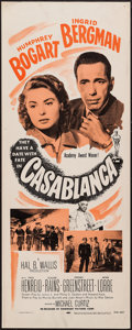 "Movie Posters:Academy Award Winners, Casablanca (Dominant, R-1956). Insert (14"" X 36""). Academy AwardWinners.. ..."