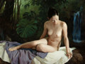 American:Portrait & Genre, BENJAMIN WU (American, b. 1961). Rain Forest 2, 2007. Oil onlinen. 30 x 40 inches (76.2 x 101.6 cm). Signed and dated l...