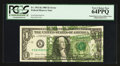 Error Notes:Major Errors, Fr. 1913-K $1 1985 Federal Reserve Note. PCGS Very Choice New64PPQ.. ...