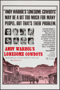 "Movie Posters:Exploitation, Andy Warhol's Lonesome Cowboys (Sherpix, 1968). One Sheet (27"" X40.5""). Exploitation.. ..."