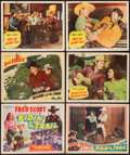 """Movie Posters:Western, Ridin' the Trail & Others Lot (States Rights Independent Exchanges, 1940). Title Lobby Card and Lobby Cards (5) (11"""" X 14"""").... (Total: 6 Items)"""