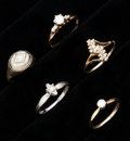 Estate Jewelry:Rings, A Lot Of Five Diamond Gold Rings. ... (Total: 5 Items)