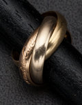 Estate Jewelry:Rings, Cartier 18k Gold Triple Band Rings. ...