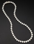 Estate Jewelry:Pearls, Cultured White Pearl Necklace. ...