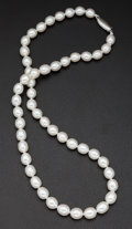 Estate Jewelry:Pearls, Cultured Baroque White Pearls. ...