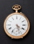 Timepieces:Pocket (post 1900), . French 14k Gold 16 size Pocket Watch. ...