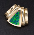 Estate Jewelry:Other , Blue/Green Opal Doublet Slide. ...