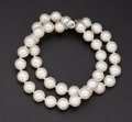 Estate Jewelry:Pearls, Cultured White Pearl Double Strand Bracelet. ...