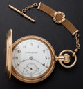 Timepieces:Pocket (post 1900), Columbus 18 Size Choice 14k Gold Hunter's Case Pocket Watch. ...