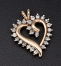 Estate Jewelry:Pendants and Lockets, Diamond & Gold Heart Pendant. ...
