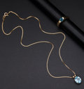 Estate Jewelry:Other , Blue Topaz Ring & Gold Pendant. ... (Total: 2 Items)