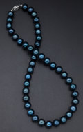 Estate Jewelry:Pearls, Cultured Black Pearl Necklace. ...