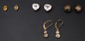 Estate Jewelry:Earrings, Four Pair Of 14k Gold Earrings. ... (Total: 4 Items)