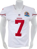 Football Collectibles:Uniforms, 2012 Colin Kaepernick Game Worn, Signed and Inscribed San Francisco49ers Jersey - Worn 12/16/12 Vs. New England....