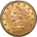Liberty Eagles, 1881-CC $10 MS62 PCGS. Variety 1-A....