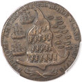 Colonials, 1778-1779 TOKEN Rhode Island Ship Token, Wreath Below, Copper MS63Brown PCGS Secure. CAC. Breen-1141, W-1740, R.4....