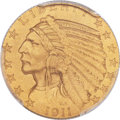 Proof Indian Half Eagles, 1911 $5 PR67 PCGS Secure. CAC....